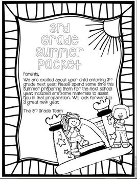 Leaving 2nd Grade and ready for 3rd Grade Summer Packet by