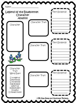 Legend of the Bluebonnet~a One Week Reading Unit for the