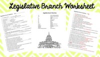 Legislative Branch- Congress Worksheet by Civics Teacher | TpT
