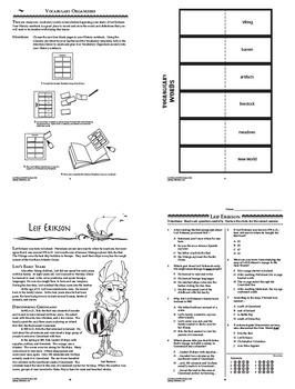 Leif Erikson New World Explorer Interactive Notebook Unit