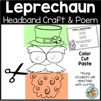 St. Patrick's Day Craft Kindergarten Leprechaun Printable