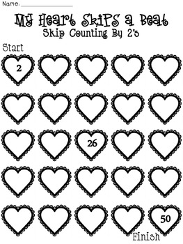 Let Me Count the Ways I Love You {Skip Couting by 2's, 5's
