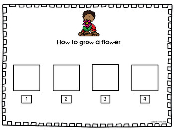 Let's Grow a Flower Adapted Book and Planting Seeds