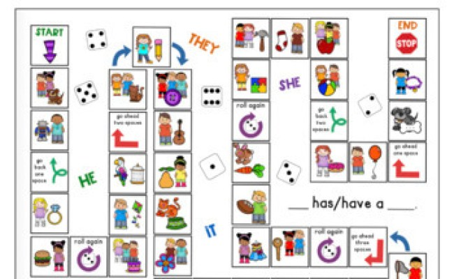 Let S Learn About Pronouns Game Board Freebie By Panda