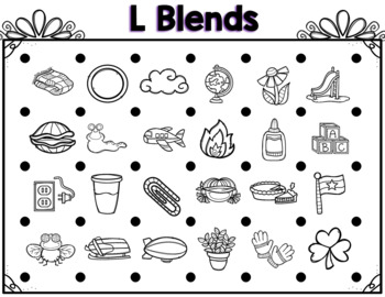 L, R, & S Blends Edition Partner Game Activty and