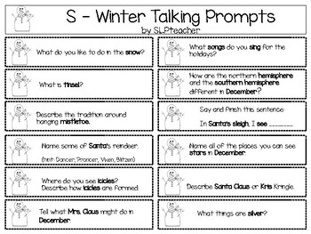 Let S Talk About Winter Vacation Questions For Speech Language Therapy