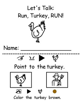 Let's Talk: Run, Turkey, RUN! Vocabulary Building and