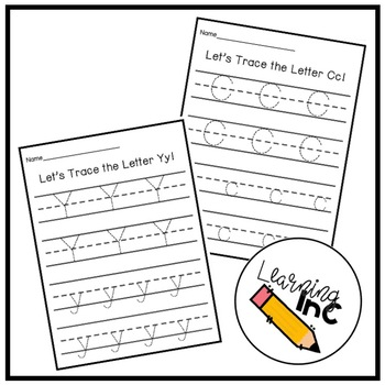 Let's Trace The Alphabet!: Letter Recognition & Writing