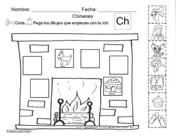 Letra Ch set of Initial sound worksheets SLA by ABC