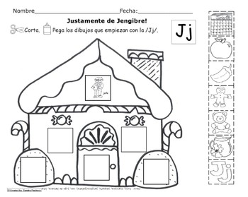 Letra Jj set of Initial sound Spanish Worksheets SLA