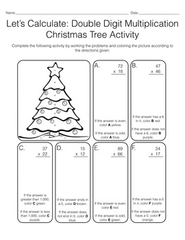 Let's Calculate: 2 & 3 Digit Multiplication Christmas