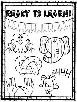 Lets Focus! Classroom Management Coloring Pages! Teacher