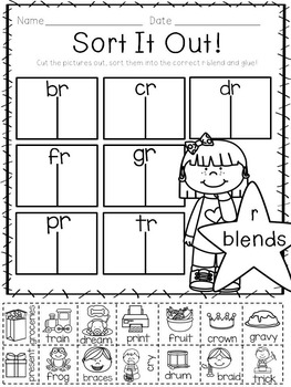 Let's Get Blending- R Blend Activities for Little Learners