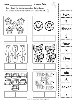Let's Learn Math Pre-K-1-2 Morning Work Reproducibles by
