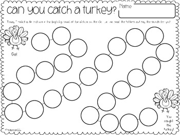 Let's Talk Turkey! {Math & Literacy Activities to be