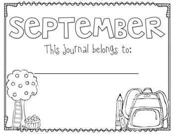 Journal Writing Monthly Templates by Miss Kindergarten