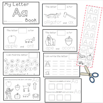 Letter A: Alphabet Activity Book FREEBIE! by Inspired