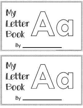 Letter A Alphabet Activity Book by Erin's Education Extras