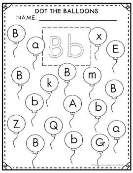 Letter Bb Balloon Dot-It Sheet FREEBIE by Every Little