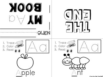 Letter Books with Alphabet Recognition and Fine Motor
