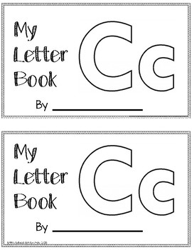 Letter C Alphabet Activity Book by Erin's Education Extras