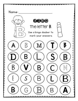 Alphabet Letter Identification: Bingo Dauber Pages by