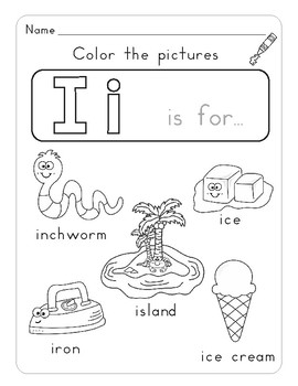 Letter Ii Letter of the Week Activity Worksheets by