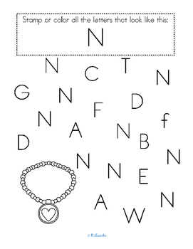 Alphabet N Letter of the Week Phonics Recognition, Sound