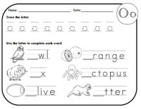 Letter O Worksheets! by Kindergarten Swag
