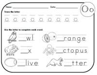 Letter O Worksheets! by Kindergarten Swag