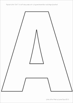 Letter Templates for Upper and Lower Case Letters by