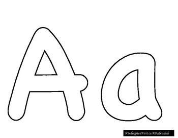 Large Printable Letters by Kindergarten First Rita
