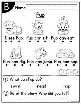 Level B Reading Comprehension Passages and Questions by A
