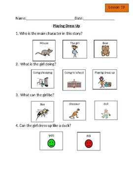 Leveled Literacy Intervention (LLI) Orange Comprehension