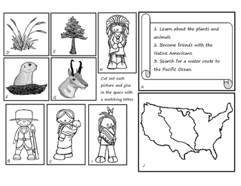 Lewis and Clark Expedition Journal- Cut and Paste Activity