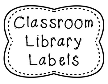 Library Book Basket Labels for Middle School by Mighty in