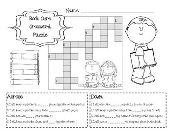Printable Library Manners Book Care Worksheets by The