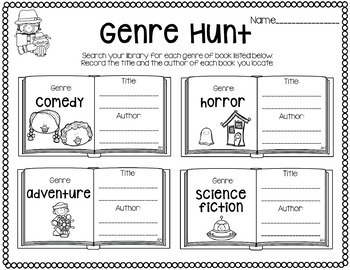 Library Skills- Literary Genre Pack by Little Library