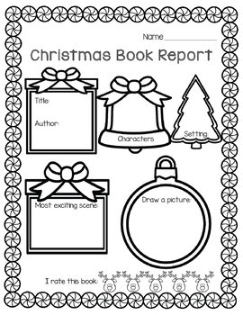Library No Prep Printables- Christmas Themed by Little