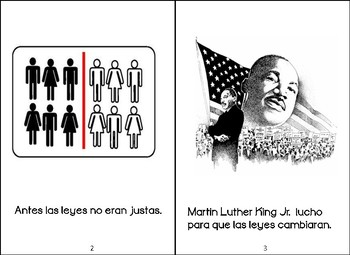Libritos sobre Martin Luther King Jr. Spanish Martin