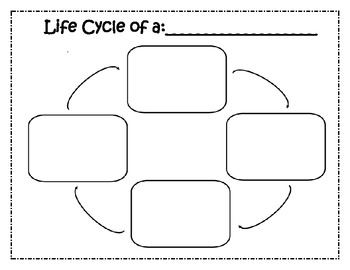 Lifecycle Blank Chart & Meal worm Cut/Paste Handout by