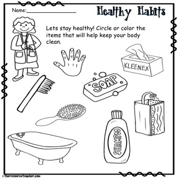 Lifeskill Activity (Healthy Habits) by Natasha Boysal from