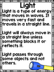 Light {Common Core/NGSS, Experiments, & Worksheets all