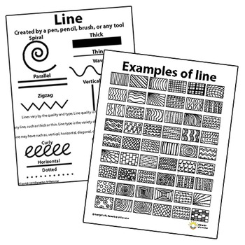 Line Pattern Handout Two Page Elements of Art Principles