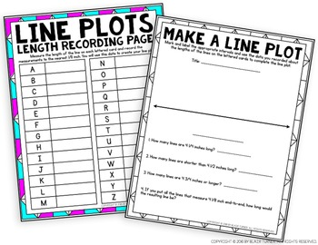 Line Plots Mini-Project: 4th Grade Math Centers 4.MD.4 by