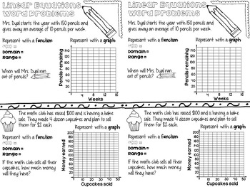 Linear Equations Word Problems Interactive Notes by Math
