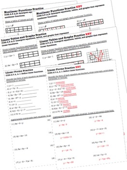 Linear or Nonlinear function practice Word problems Linear