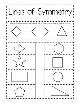 Lines of Symmetry Interactive Notebook Activity & Quick