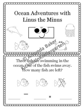 Linus the Minus Subtraction Story Problems Worksheets Mini