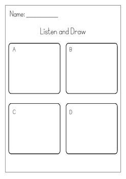 Listen & Draw: Fall and Halloween listening activity by